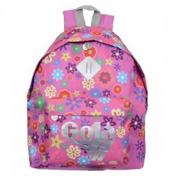 Zaino Gola Harlow Bloom Floreale - 42x33x14 cm - CUB592 - Mid Pink/Silver/Multicolor